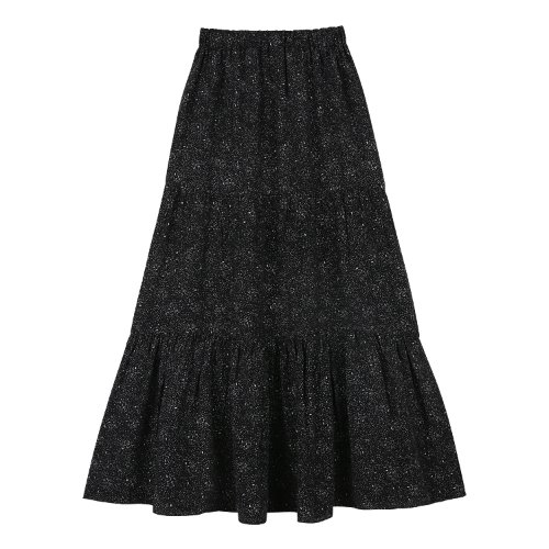 iuw661 pen dot flare skirt (darknavy)