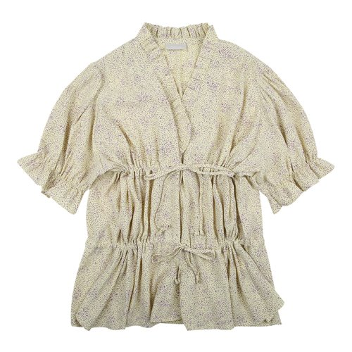 iuw695 double string frill blouse (yellow)
