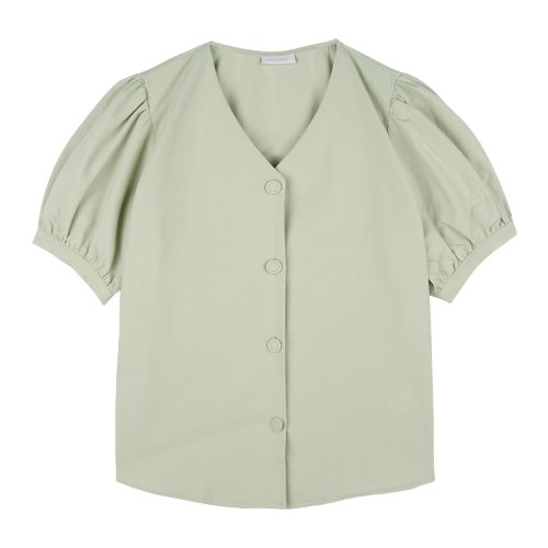 iuw749 puff sleeve half shirts (mint)