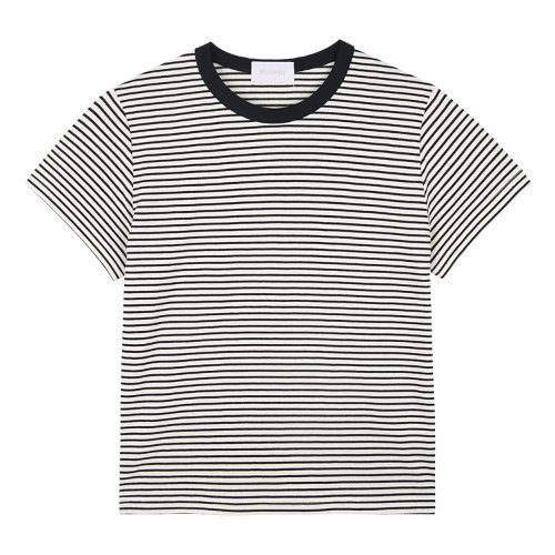 iuw726 mini stripe T (navy)
