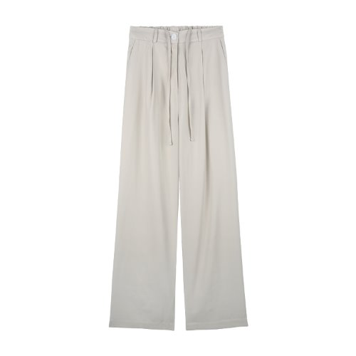 iuw772 banding long slacks (beige)