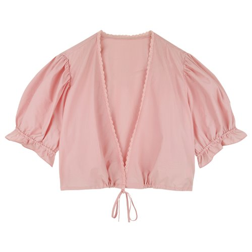 iuw755 wrap two way blouse (pink)