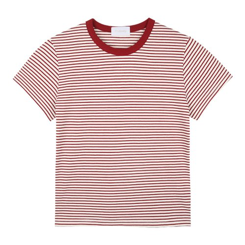 iuw725 mini stripe T (wine)
