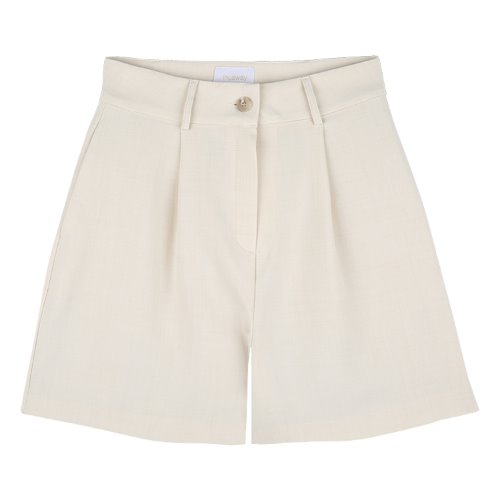 iuw777 summer wide short pants (light beige)