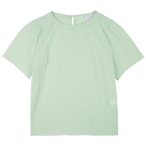 iuw745 embo half sleeve blouse (mint)