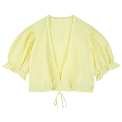 iuw756 wrap two way blouse (yellow)