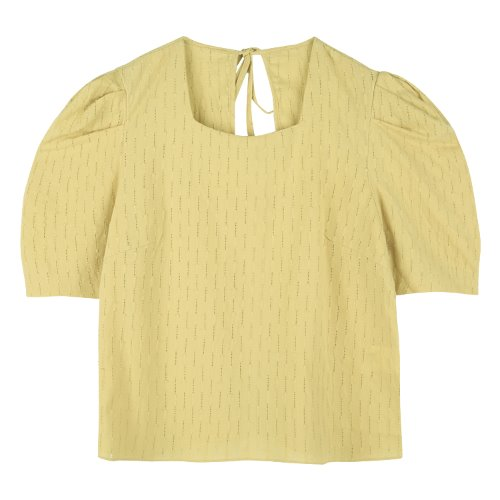 iuw757 punching puff blouse (mustard)