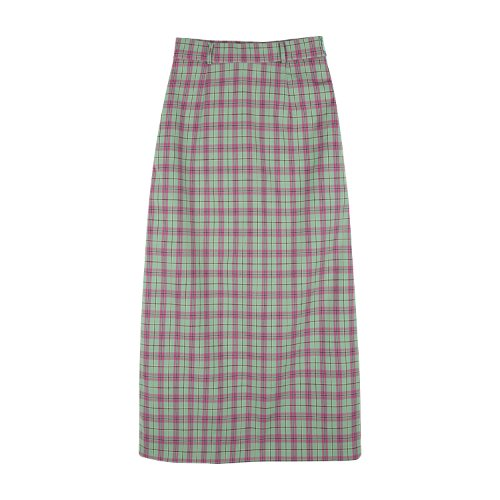 iuw771 check pencil skirts (green pink)
