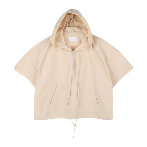 iuw766 nylon anorak zip up (beige)