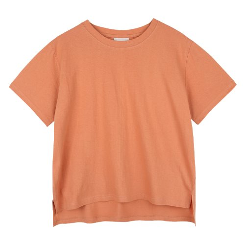 iuw727 cotton loosefit half T (brick)
