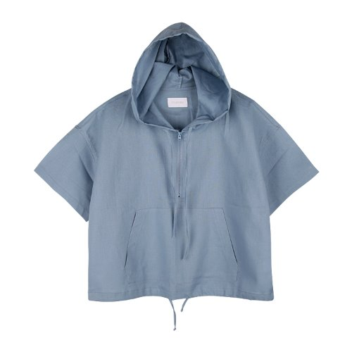 iuw764 linen anorak zip up (skyblue)