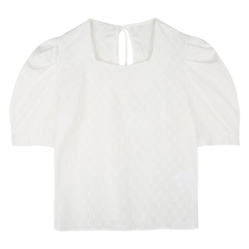 iuw758 punching puff blouse (ivory)