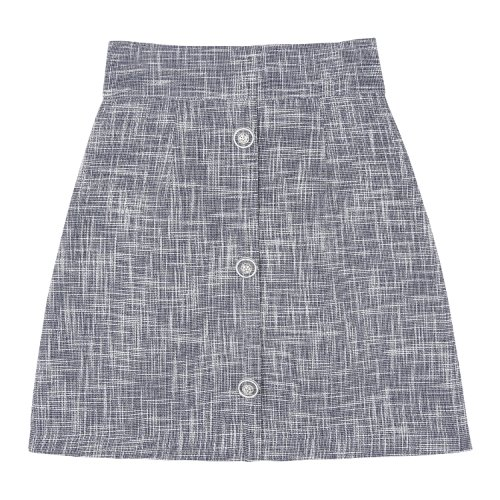 iuw778 marine tweed skirt (navy)