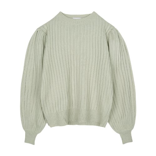 iuw831 puff knit (light mint)