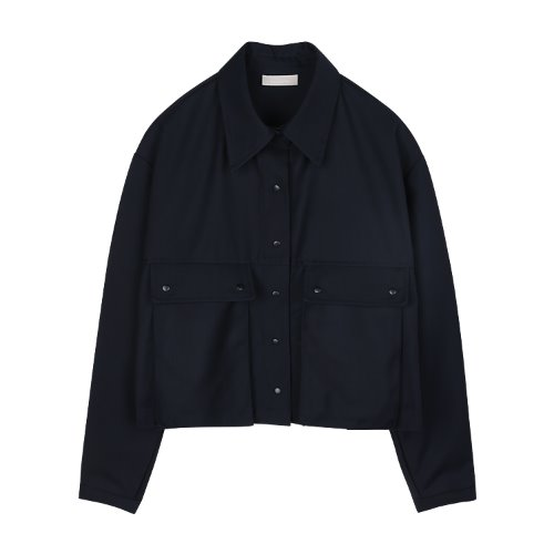 iuw813 crop pocket shirts JK (navy)