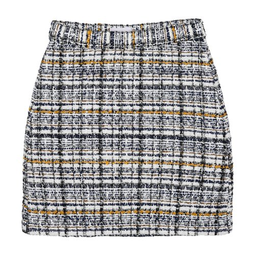 iuw825 tweed shorts skirt (yellow)