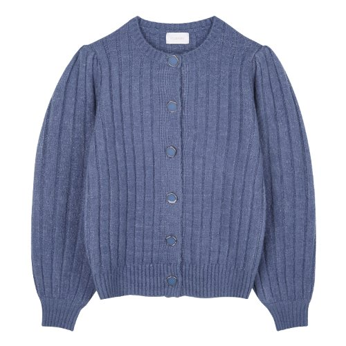 iuw885 point button puff cardigan (skyblue)