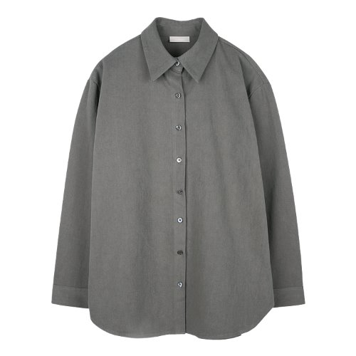 iuw846 overfit winter shirts (charcoal)