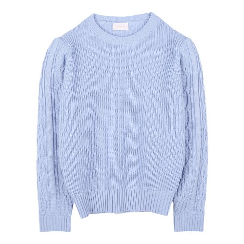 iuw893 twisty sleeve puff knit (skyblue)