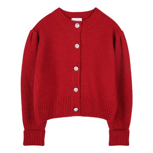 iuw880 point button wool knit (red)