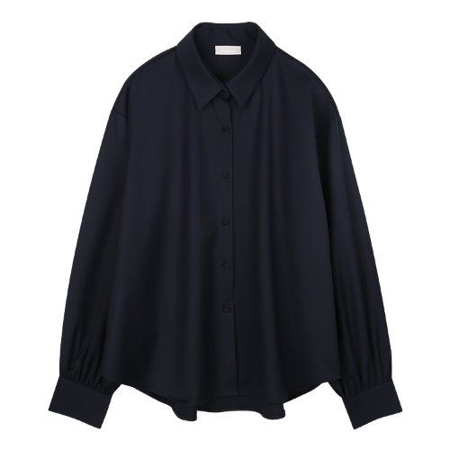 iuw849 modern loose fit shirts (navy)