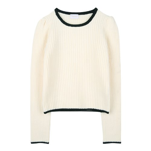 iuw890 square neck puff knit (ivory)