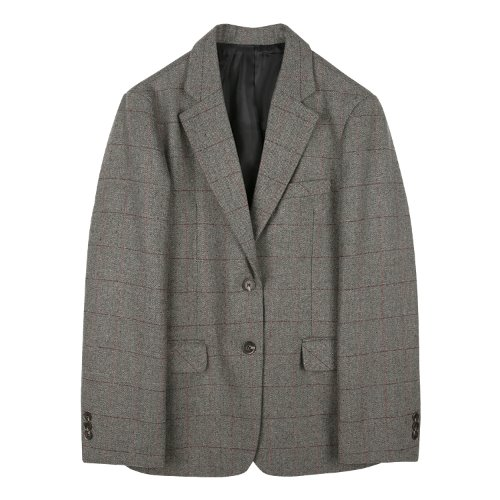 iuw871 wool combi check jacket