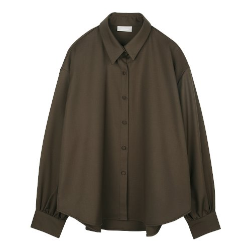 iuw848 modern loose fit shirts (brown)