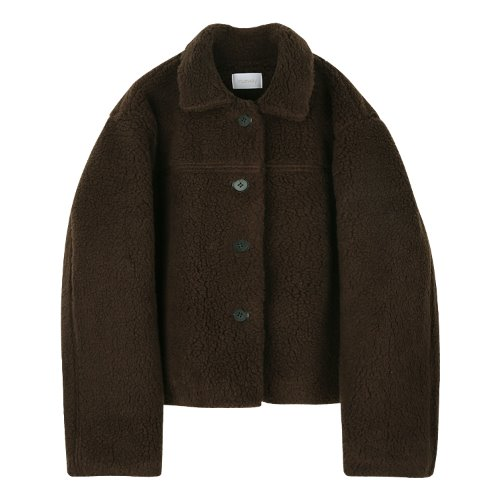 iuw868 beary quilting jumper (brown)