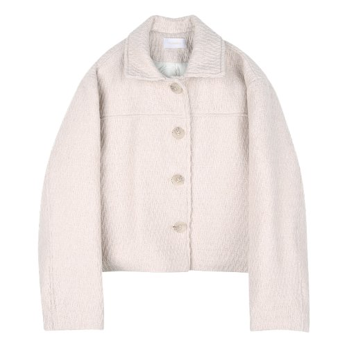iuw870 creamy wool quilting jumper (cream)