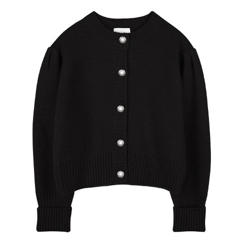 iuw881 point button wool knit (black)