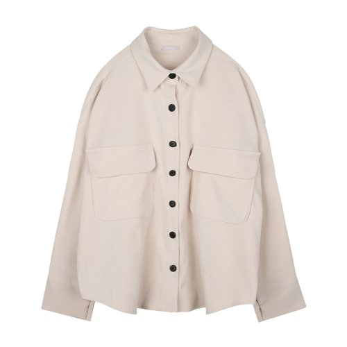 iuw919 big pocket box shirts (cream)