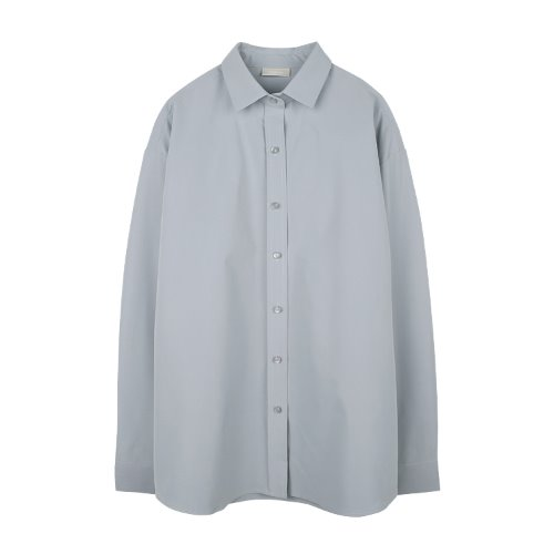 iuw917 round button box shirts (light grey)