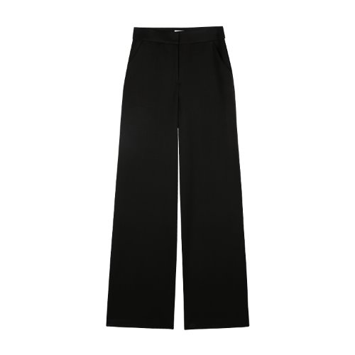 iuw928 basic wide slacks (black)