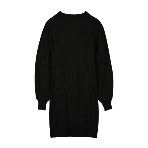 iuw942 puff one-piece knit (black)