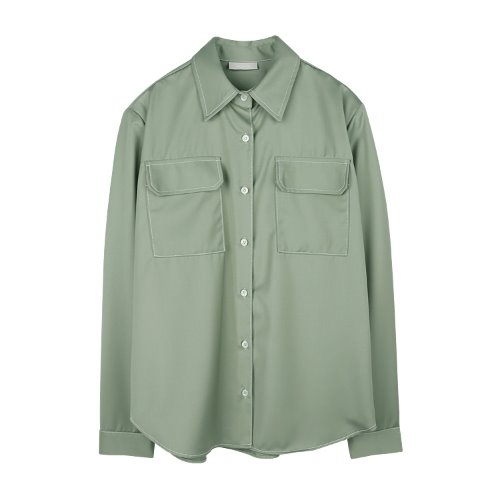 iuw914 paded pocket shirts (khaki)