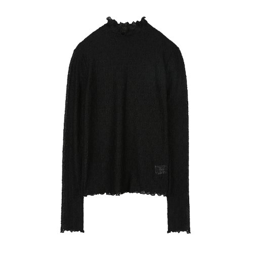 iuw906 layered lace pola T (black)