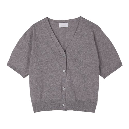 iuw988 linen knit cardigan (gray)