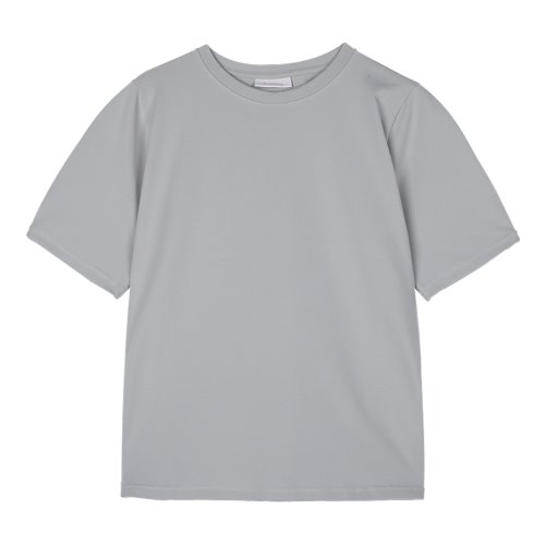 iuw970 puff sleeve round T (light gray)