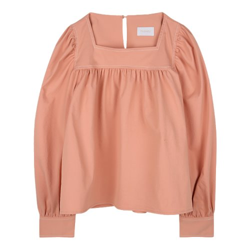 iuw981 frill square neck blouse (peach)