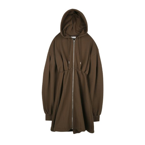 iuw912 zipper hoody OPS (brown)
