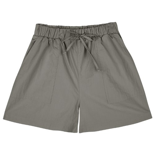 iuw782 nylon banding shorts (charcoal)