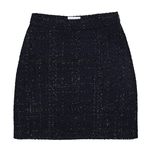 iuw824 tweed shorts skirt (navy)