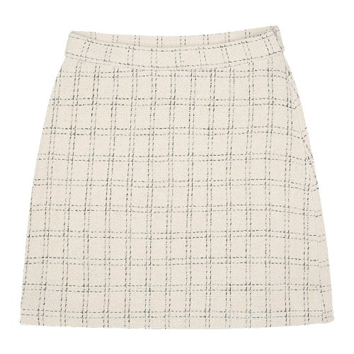 iuw827 square check skirts (ivory)