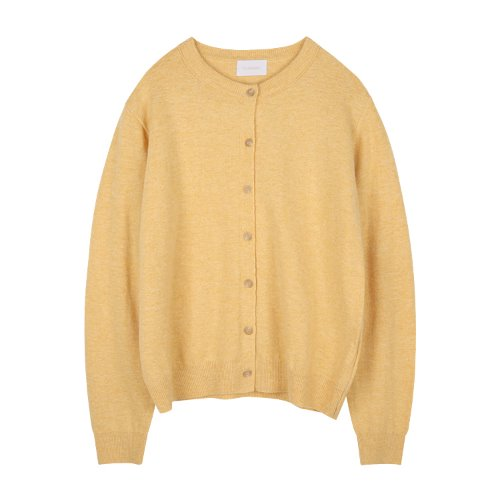 iuw939 simple rounded cardigan (yellow)