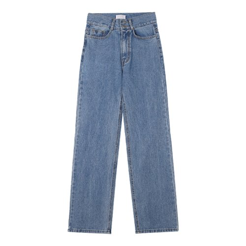 iuw993 two button long wide denim (blue)