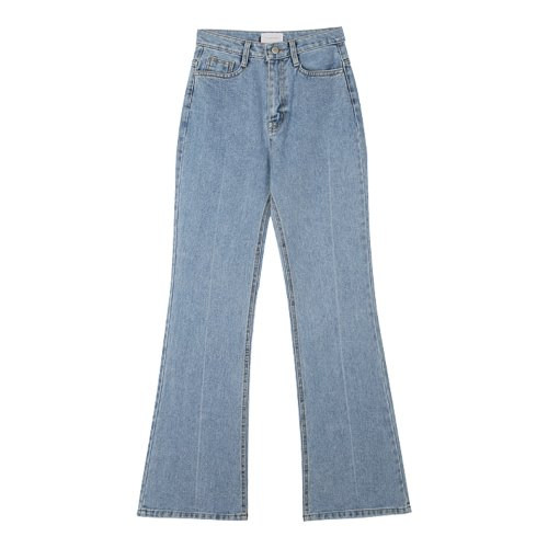 iuw994 long wide bootscut denim (light blue)